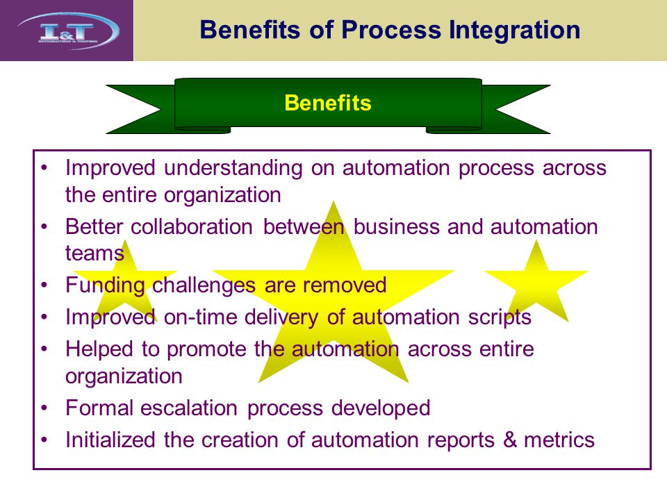 Benefits of Process Integration