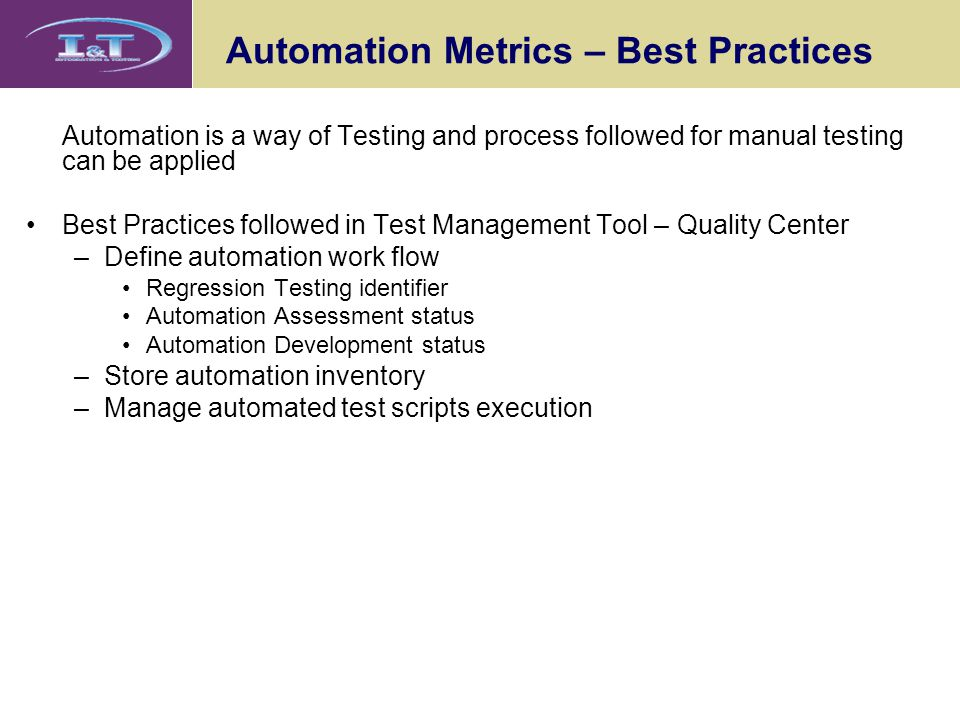 Automation Metrics – Best Practices