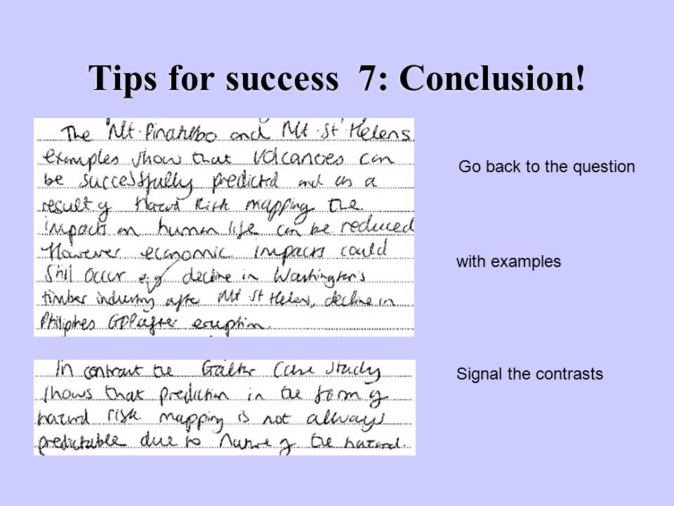 Tips for success 7: Conclusion!