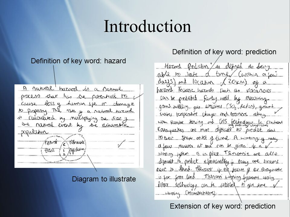 Introduction Definition of key word: prediction