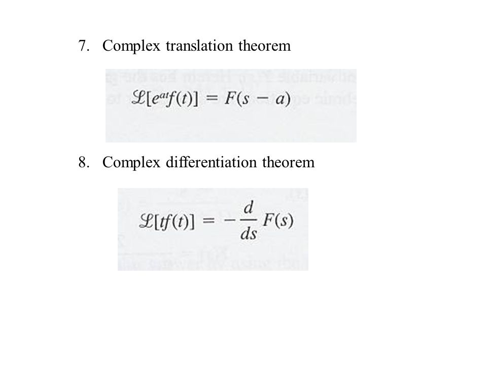 Complex translation theorem