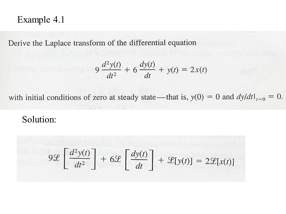 Example 4.1 Solution: