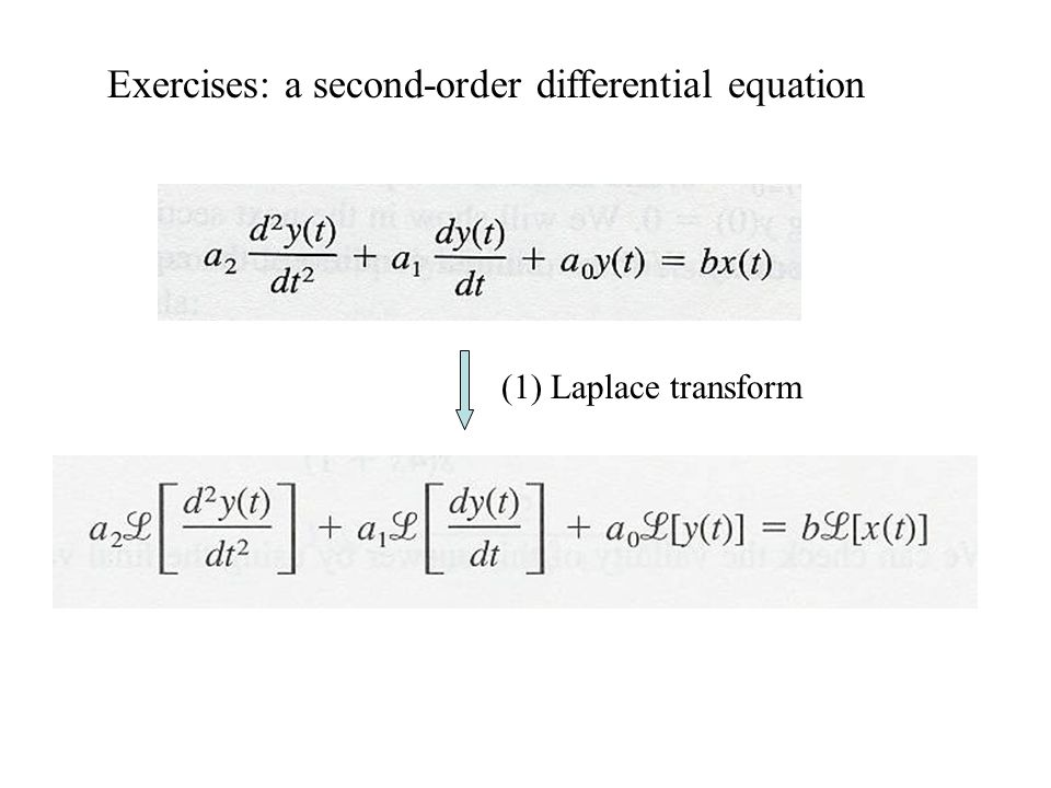 Exercises: a second-order differential equation