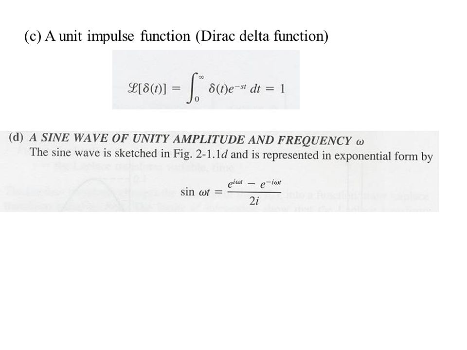 (c) A unit impulse function (Dirac delta function)