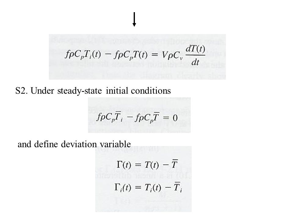 S2. Under steady-state initial conditions