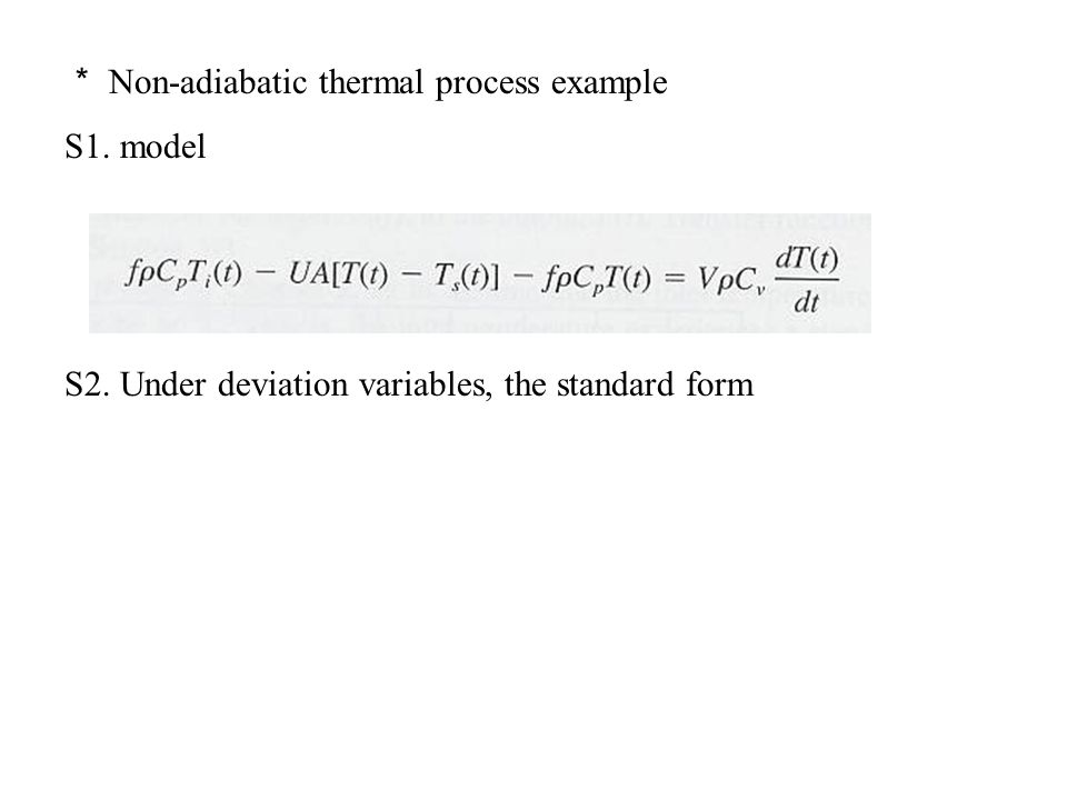 * Non-adiabatic thermal process example