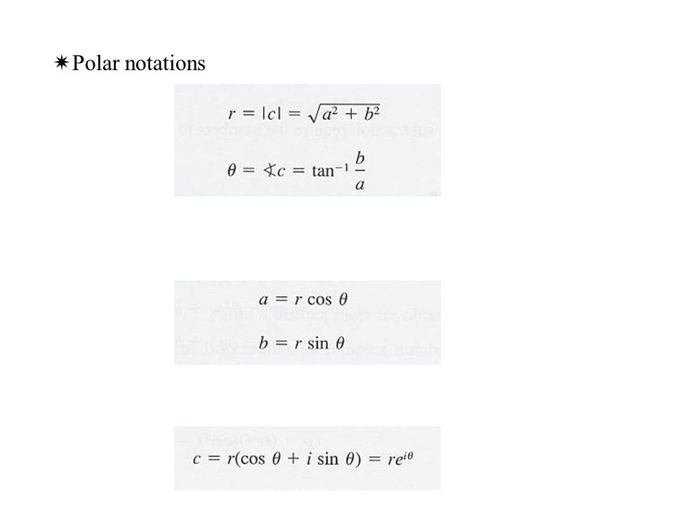 Polar notations