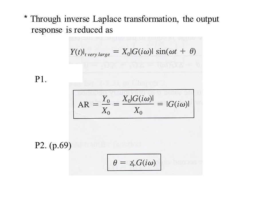 *Through inverse Laplace transformation, the output response is reduced as