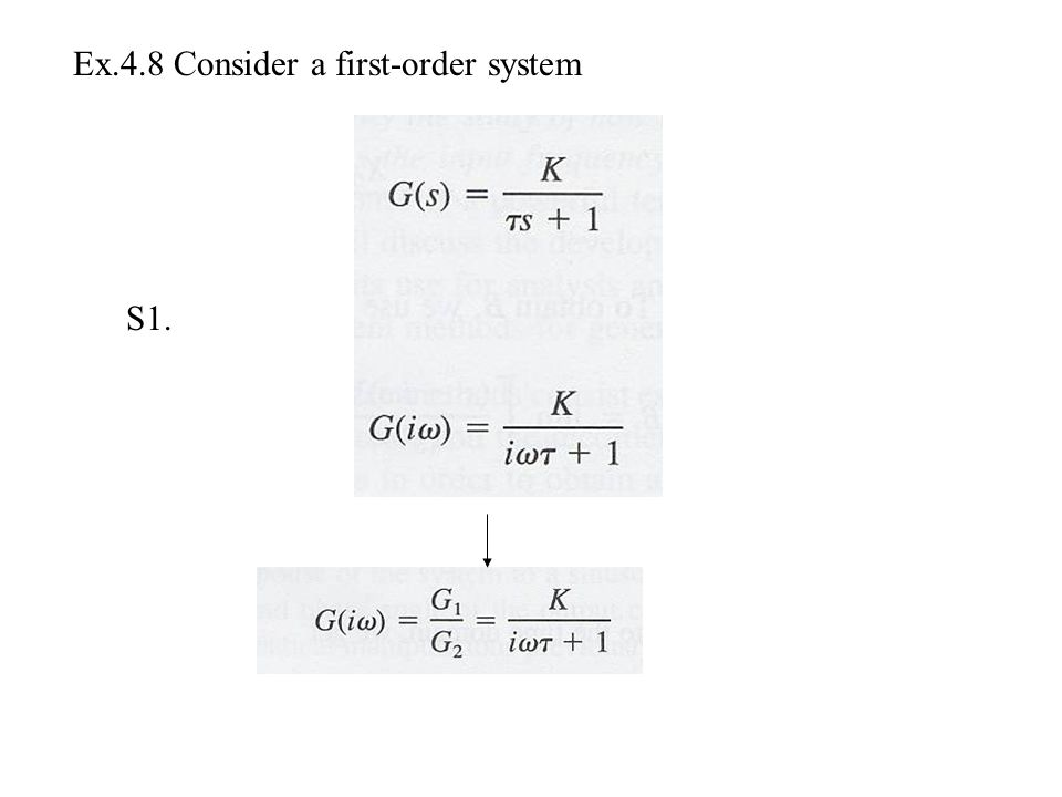 Ex.4.8 Consider a first-order system