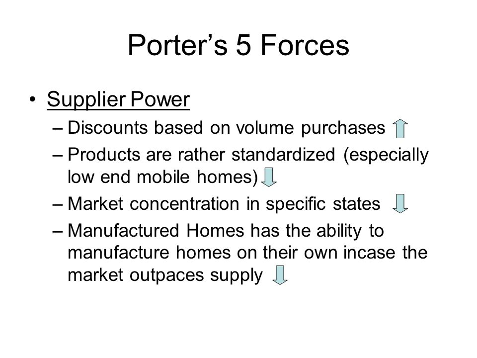 Porter's 5 Forces Supplier Power Discounts based on volume purchases
