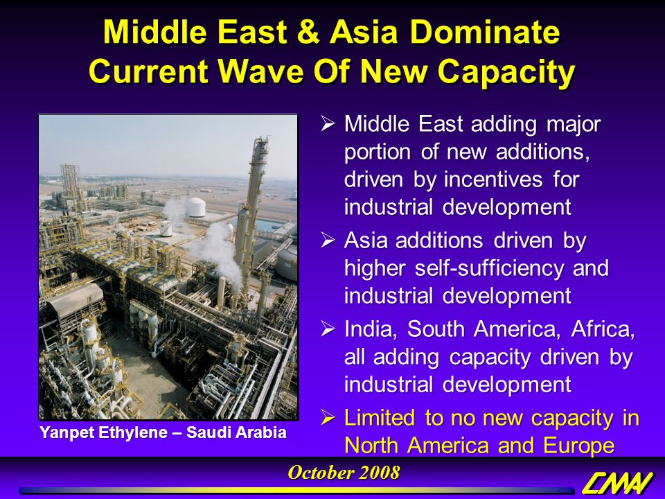 Middle East & Asia Dominate Current Wave Of New Capacity