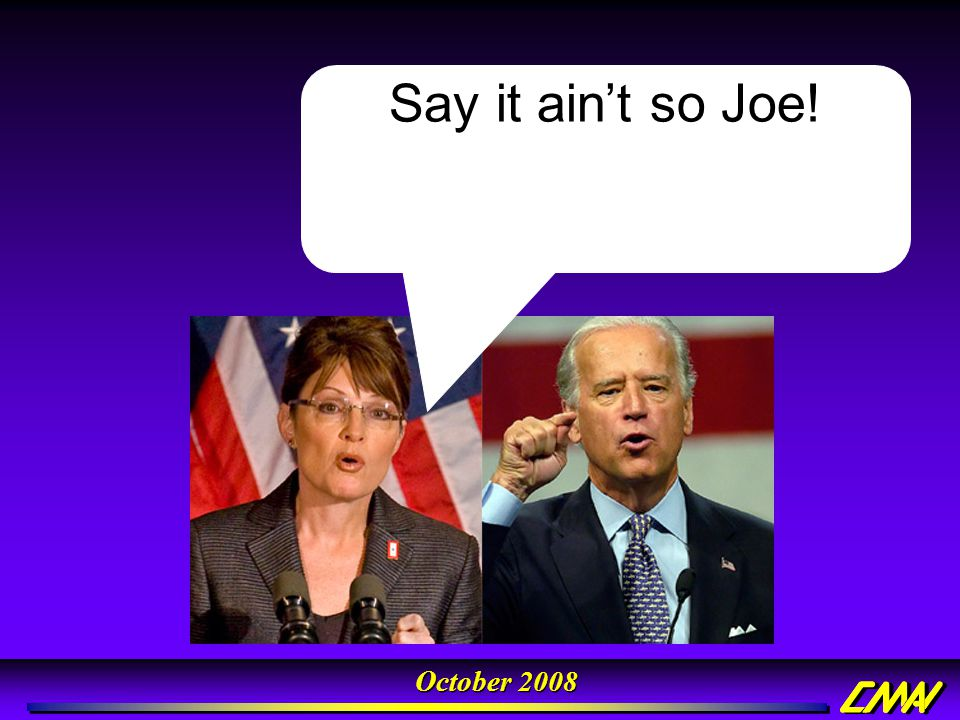 Say it ain't so Joe!