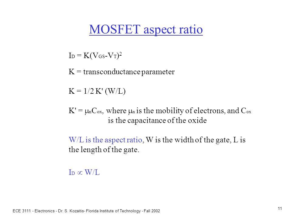 Prob 5.41(a) Given: VT = 2V, K = (1/2) .5 mA/V2 (a) Find V1