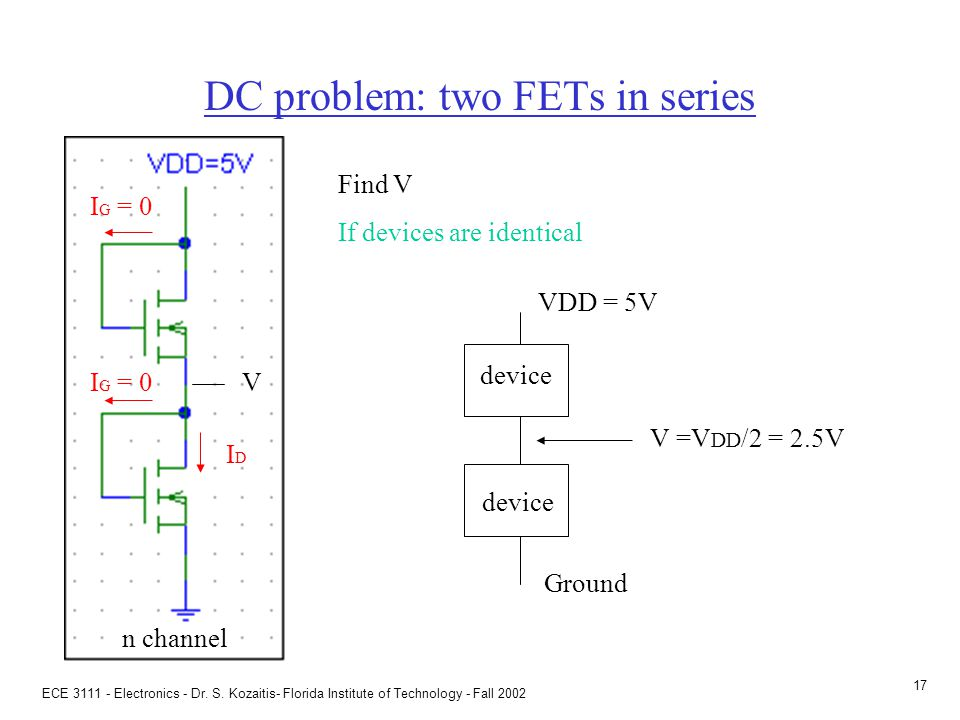 . 5.5 MOSFET as an amplifier ac model n channel SPICE model d g + Ro d