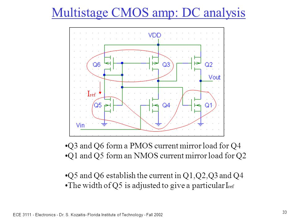 Multistage CMOS amp: DC analysis