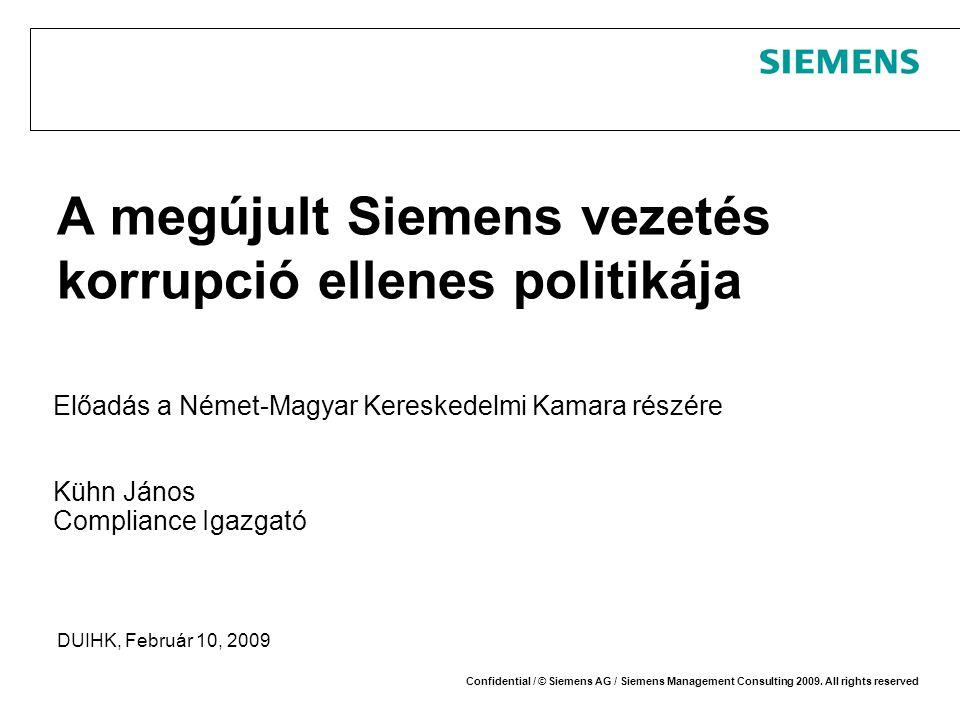 A megújult Siemens vezetés korrupció ellenes politikája
