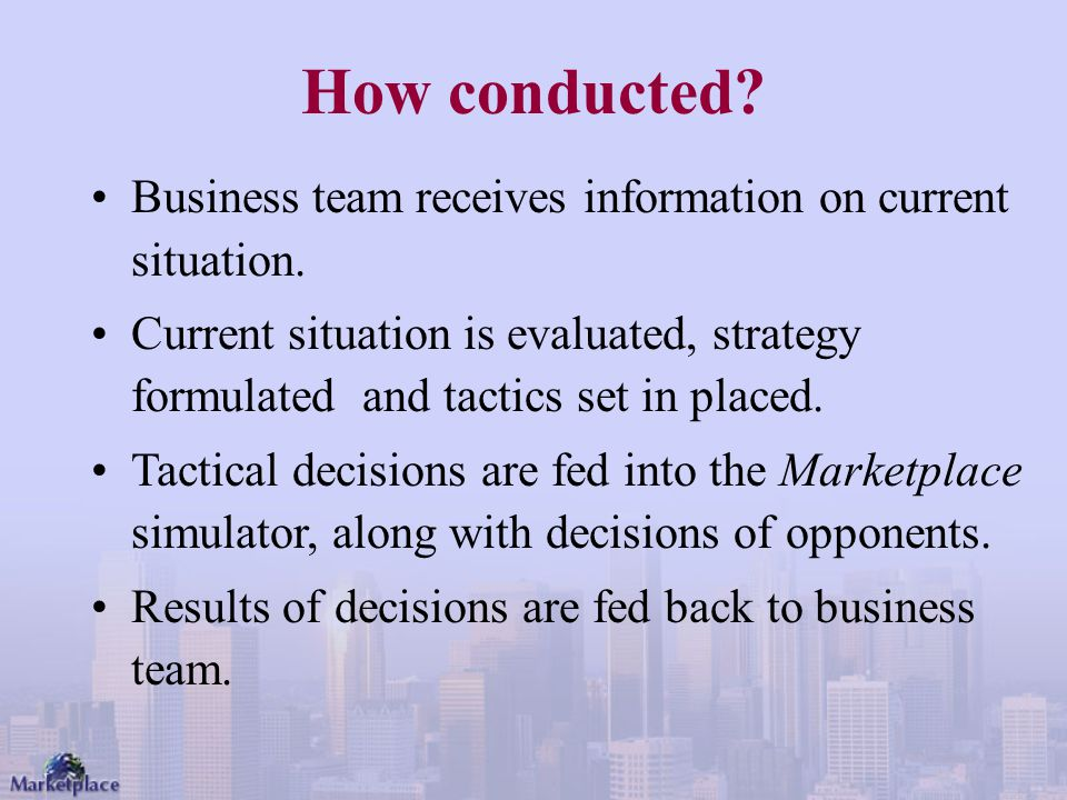 How conducted Business team receives information on current situation.