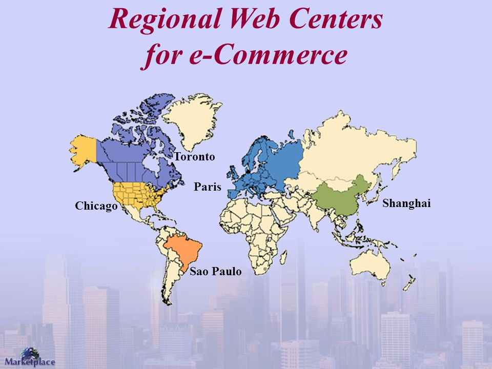 Regional Web Centers for e-Commerce