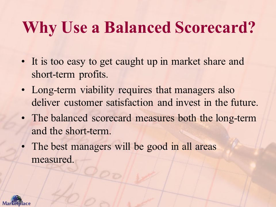 Why Use a Balanced Scorecard