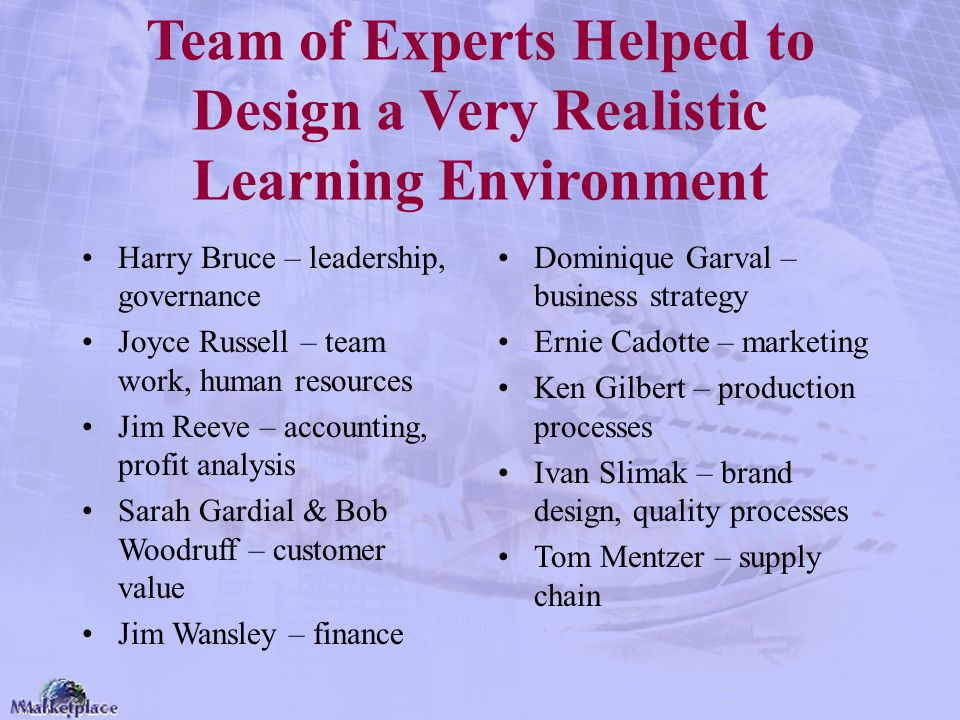 Team of Experts Helped to Design a Very Realistic Learning Environment