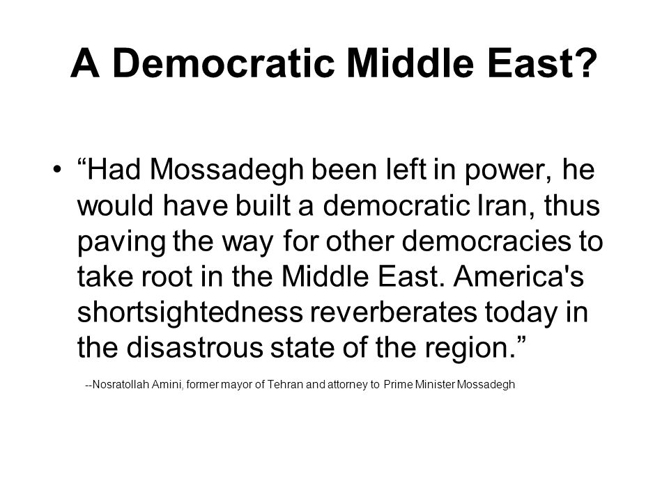 A Democratic Middle East