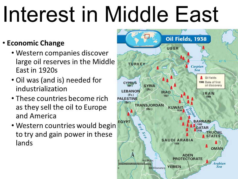 Interest in Middle East
