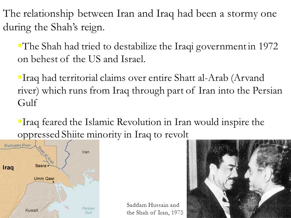 history of war between iraq and iran relationship
