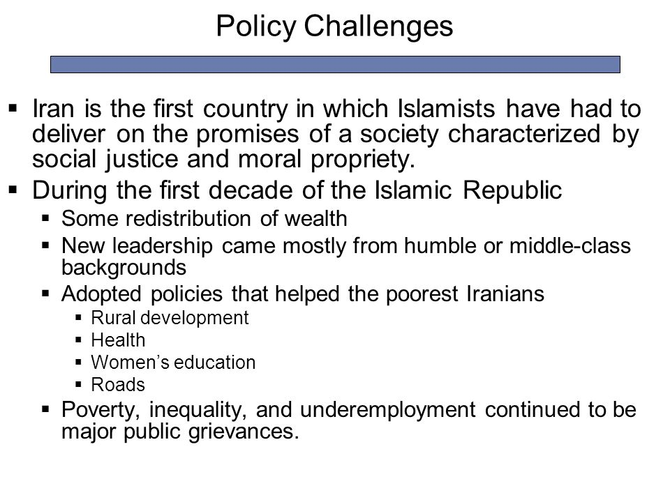 Policy Challenges