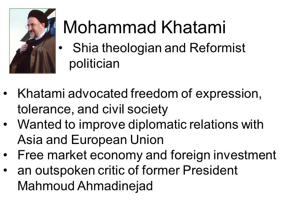 Mohammad Khatami Shia theologian and Reformist politician