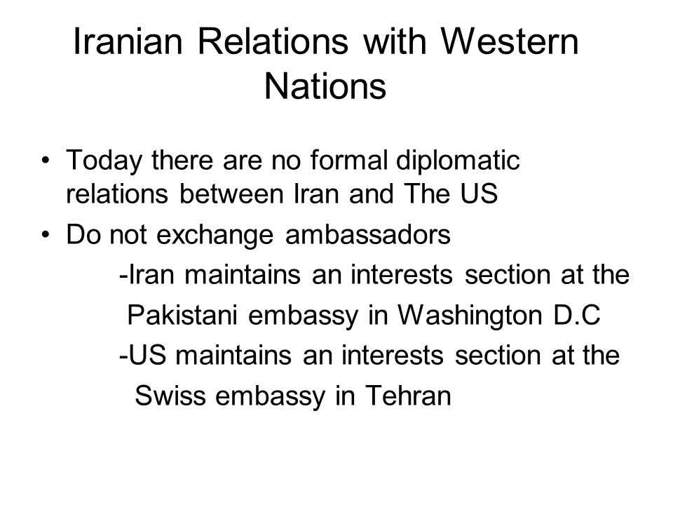 Iranian Relations with Western Nations