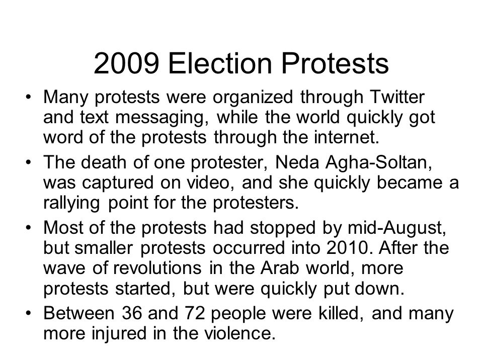2009 Election Protests