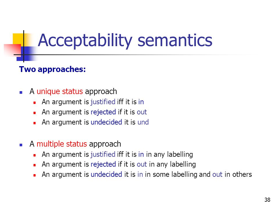 Acceptability semantics