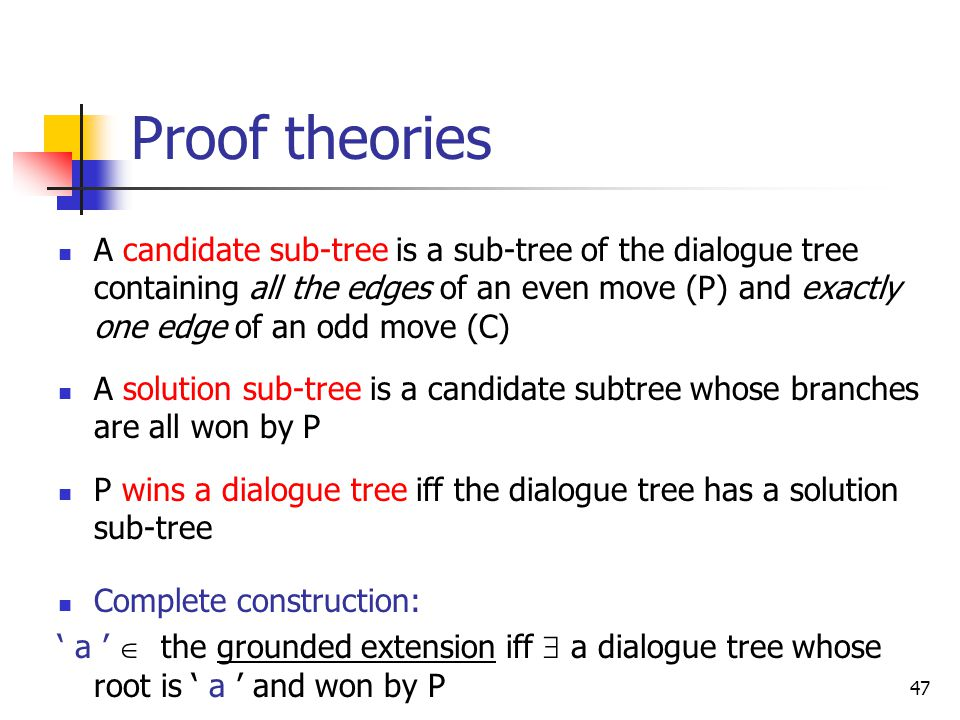 Proof theories