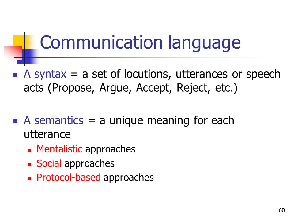 Communication language