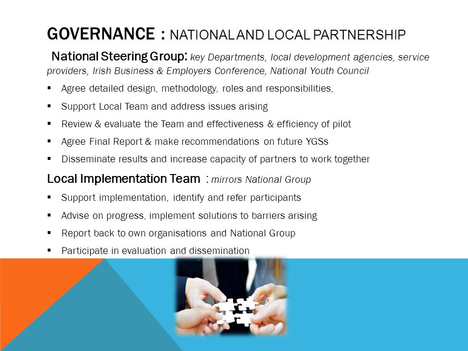 Governance : National and local partnership