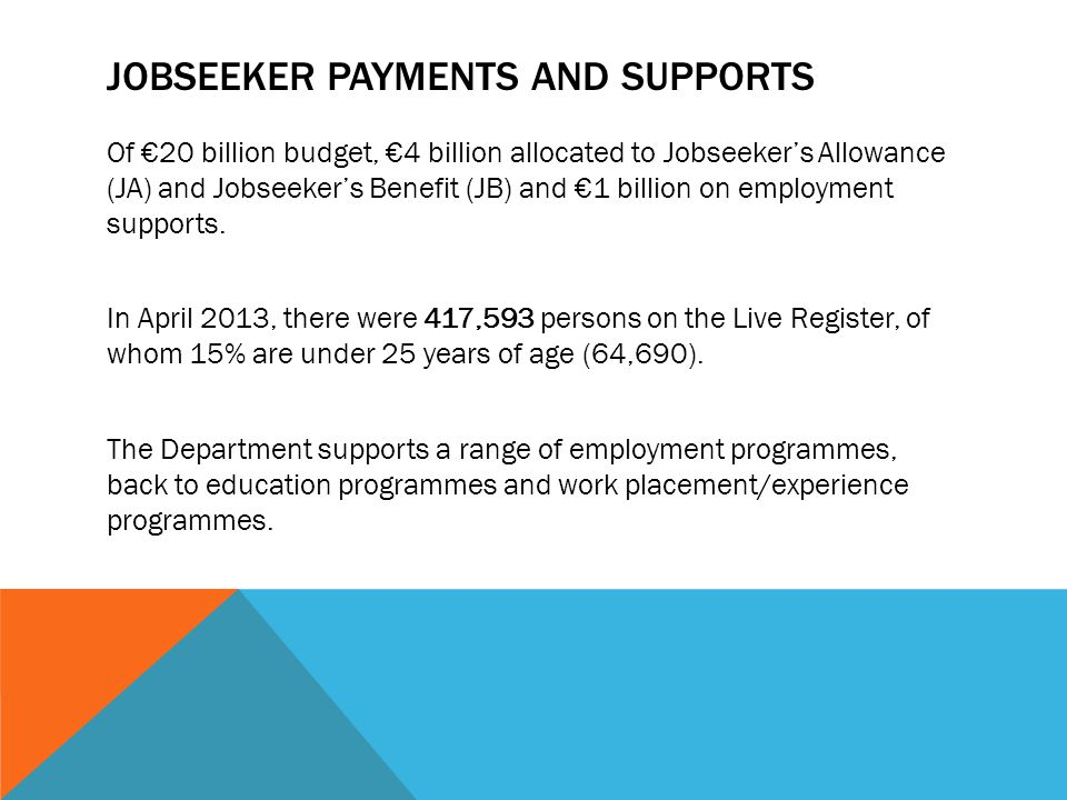 Jobseeker payments and supports