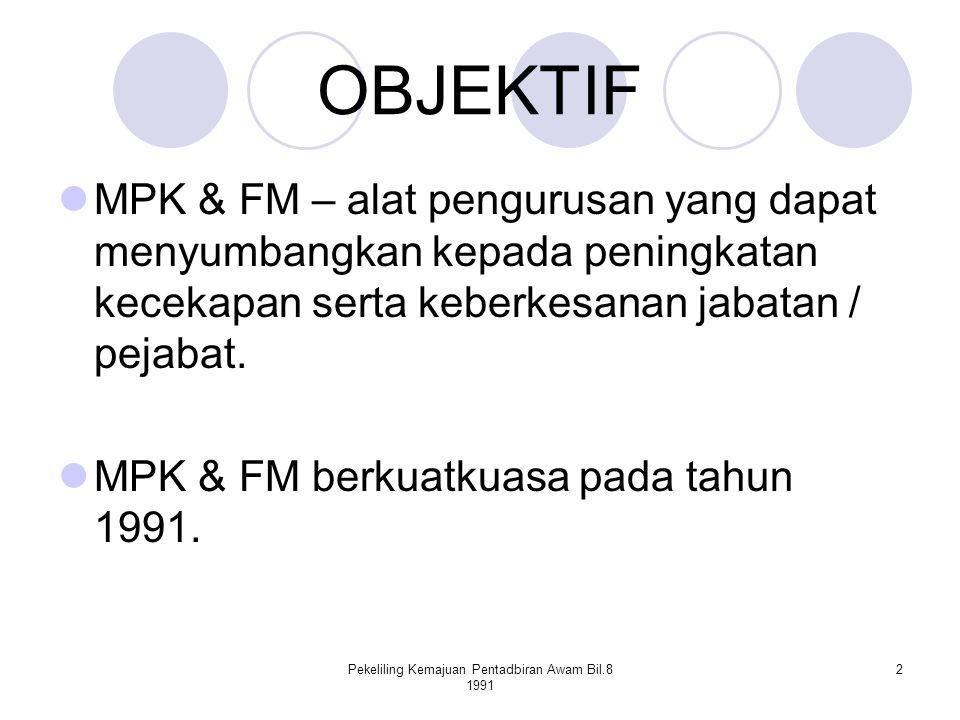 Pekeliling Kemajuan Pentadbiran Awam Bil.8 1991