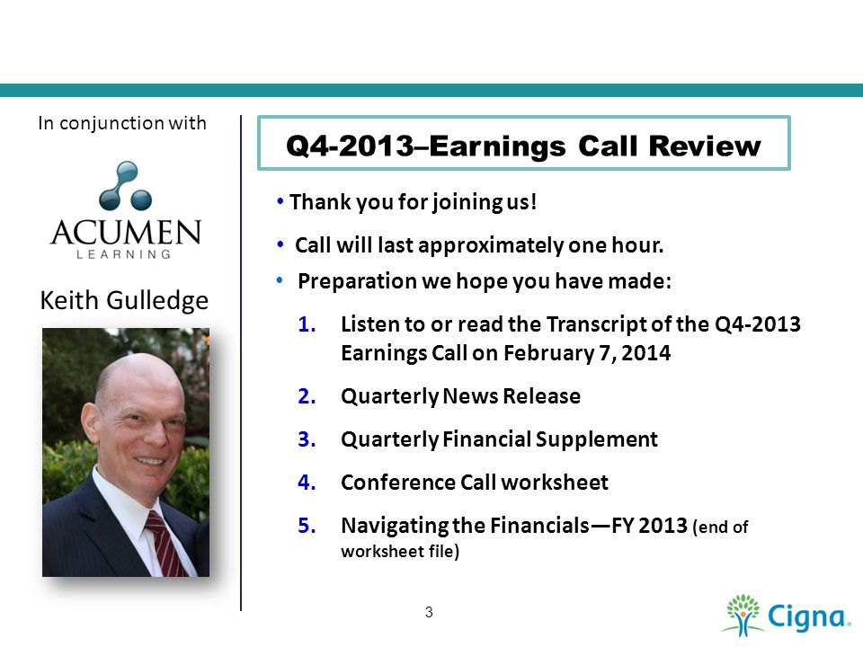 Q4-2013–Earnings Call Review