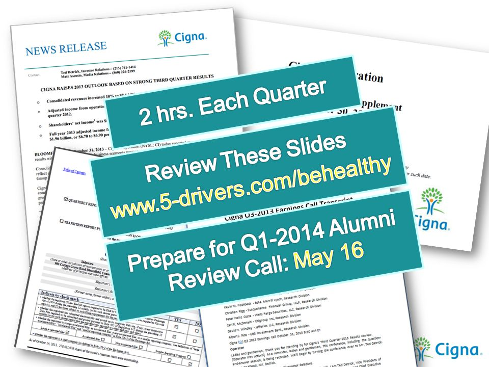 Prepare for Q1-2014 Alumni Review Call: May 16