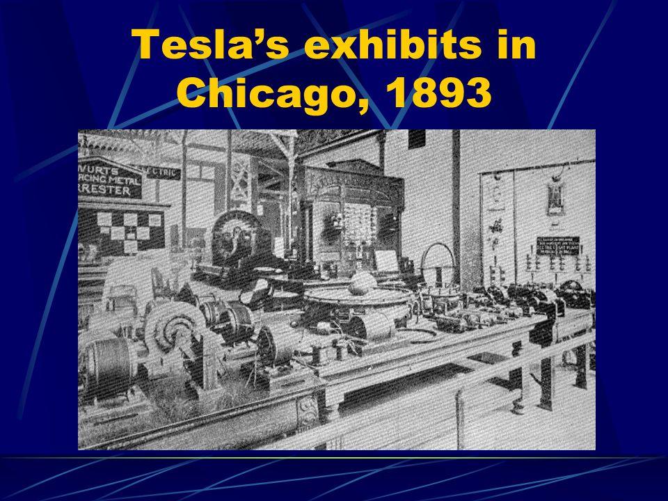 Tesla's exhibits in Chicago, 1893
