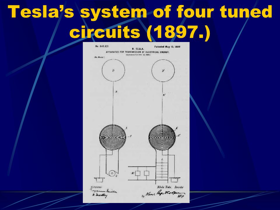 Tesla's system of four tuned circuits (1897.)