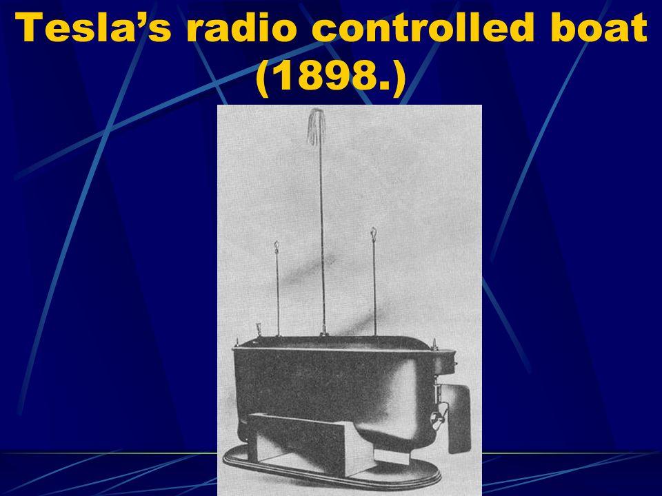 Tesla's radio controlled boat (1898.)