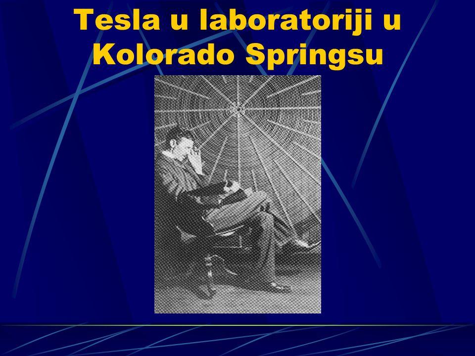 Tesla u laboratoriji u Kolorado Springsu