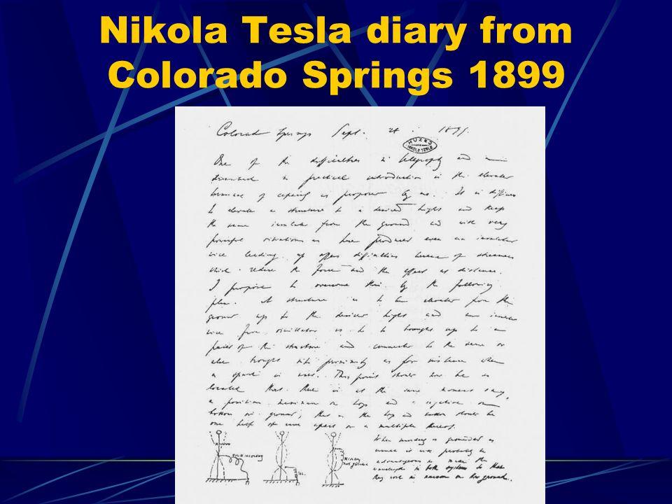 Nikola Tesla diary from Colorado Springs 1899