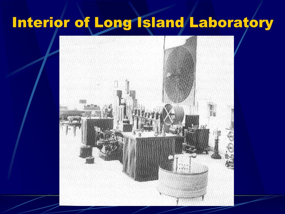 Interior of Long Island Laboratory
