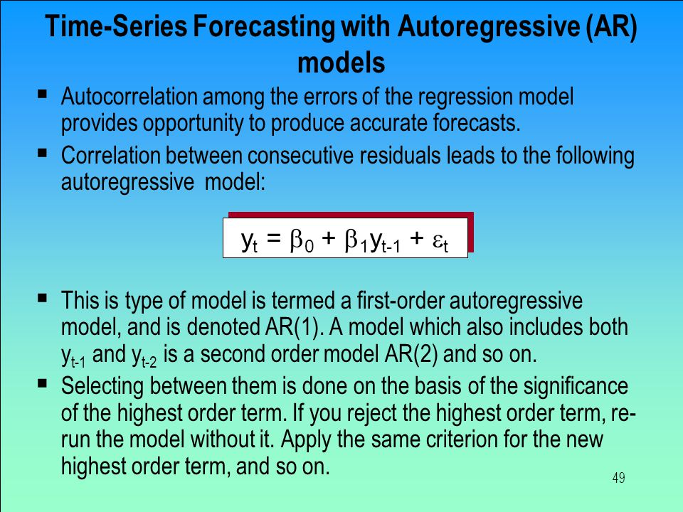 Time-Series Forecasting with Autoregressive (AR) models