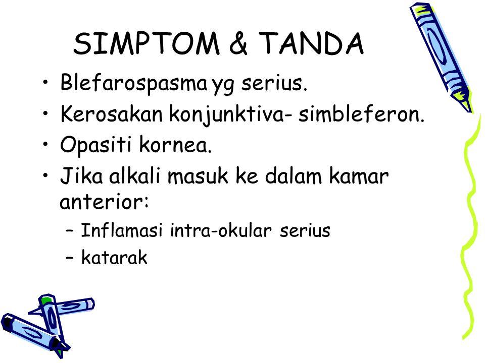 SIMPTOM & TANDA Blefarospasma yg serius.
