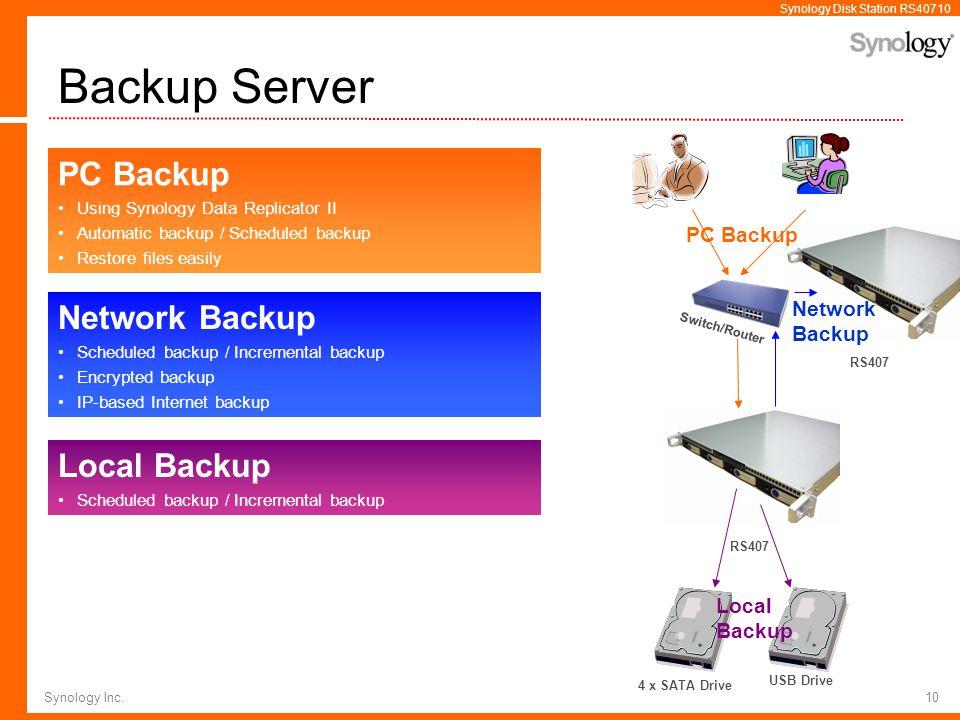 Backup Server PC Backup Network Backup Local Backup PC Backup Network