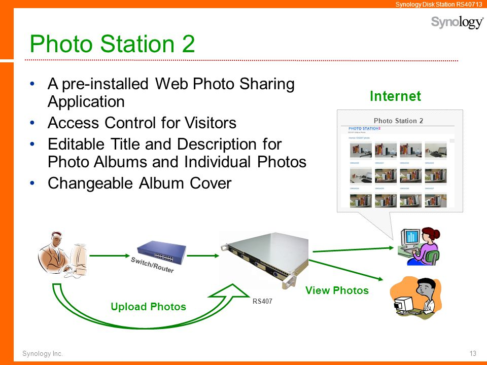 Photo Station 2 A pre-installed Web Photo Sharing Application