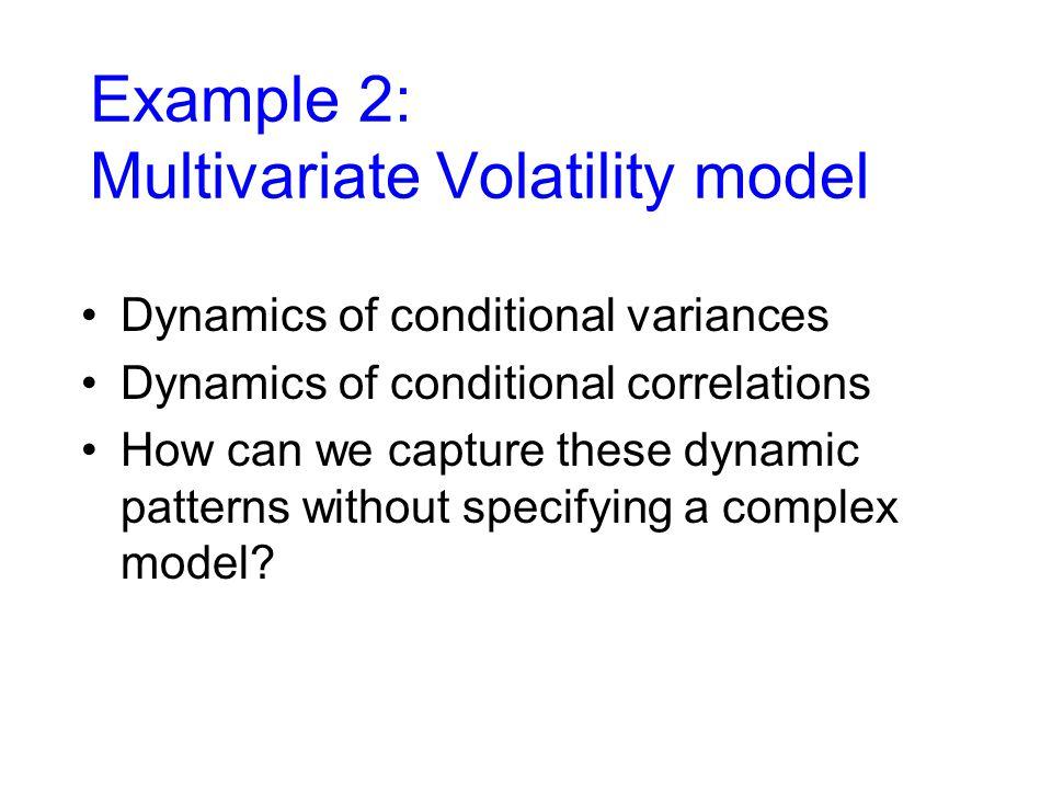 Example 2: Multivariate Volatility model